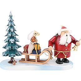 Räuchermännchen Weihnachtsmann kommt  -  21cm