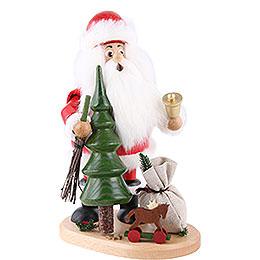 Räuchermännchen Weihnachtsmann mit Weihnachtsbaum  -  22cm