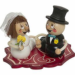 Räucherwurm Hochzeitspaar Rudi und Rosi  -  ca. 14cm