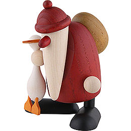 Santa Claus with goose Auguste  -  9cm / 3.5inch