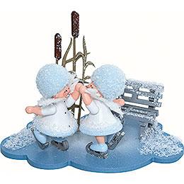 Schneeflöckchen Eiskunstpaar  -  10x7x6cm