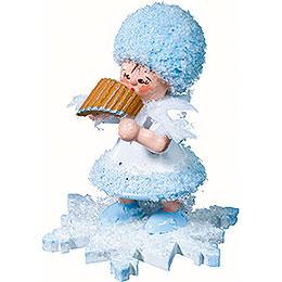 Schneefl�ckchen mit Panfl�te  -  5cm