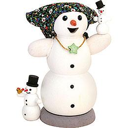 Schneefrau mit 2 Kindern  -  13cm