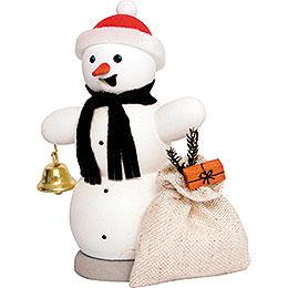 Schneemann mit Geschenkesack  -  13cm