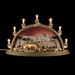 Schwibbogen Christi Geburt  -  75x42x20cm