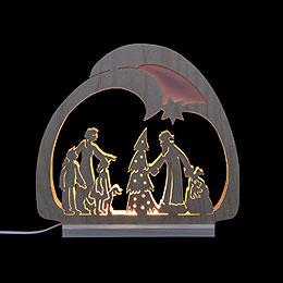 Schwibbogen  -  LED - Leuchter Weihnachtsmann  -  30x28,5x4,5cm