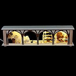Schwibbogen - Unterbau/Raumleuchte Mehlkammer  -  50x12x10cm