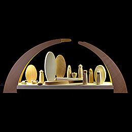 Schwibbogen mit Krippenfiguren  -  62x25cm