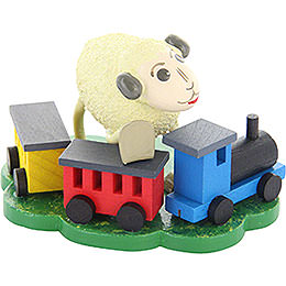 "Sheep ""Bähnli"", with rail road  -  5,5cm / 2.2inch"