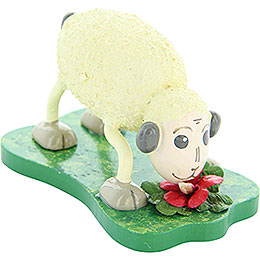 "Sheep ""Mampfi"", eating  -  4,5cm / 1.8inch"