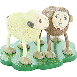 "Sheep ""Quatschi"" and ""Tratschi"", gossiping  -  5cm / 2inch"