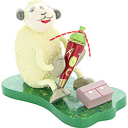 "Sheep ""Tütli"", with sweetie hat  -  5,5cm / 2.2inch"
