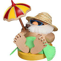 Smoker  -  Ball Figure Santa Incognito under Parasol  -  12cm / 4.7 inch
