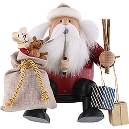 Smoker  -  Edge Stool  -  Santa Claus  -  16cm / 6 inch