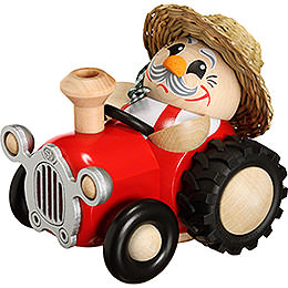 Smoker Farmer with Tractor  -  10cm / 4 inch