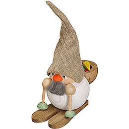 Smoker  -  Forest Dwarf with Ski  -  19cm / 7 inch