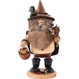 Smoker  -  Forest Gnome Herb Gatherer Natural  -  25cm / 10 inch