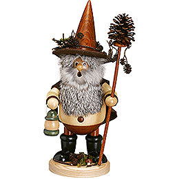 Smoker  -  Forest Gnome Pine Cone Picker, Natural  -  25cm /10 inch