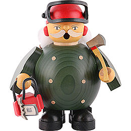 Smoker Forest Worker with saw  -  14cm / 5.5 inches