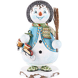 Smoker Gnome Snowflake with skate  14cm / 5inch