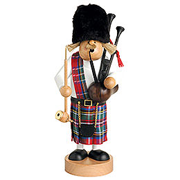 Smoker Scotsman with bagpipe  -  109cm / 43 inch