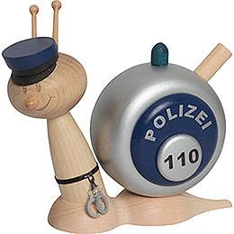 Smoker Snail Sunny Police Snail  -  16cm / 6.3inch
