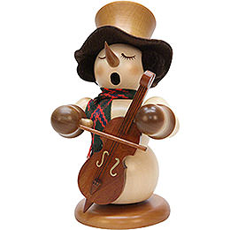 Smoker  -  Snowman with Bass Natur, Limited  -  23cm / 9.1 inch