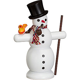 Smoker Snowman with Scarf  -  16cm / 6 inch