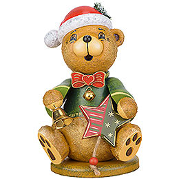 Smoker Teddy Christmas Claus  -  20cm / 7.8inch