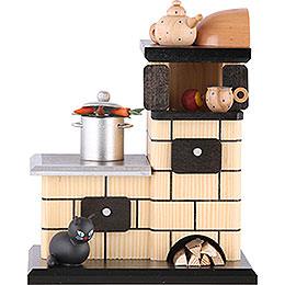 Smoker Tiled stove smoking  -  21cm / 8 inches