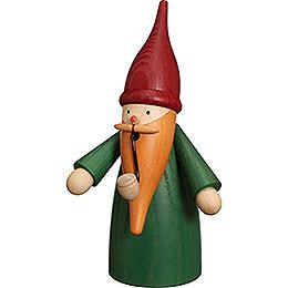 Smoker Traditonal Gnome green  -  16cm / 6 inch