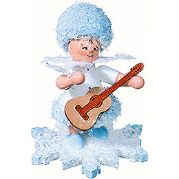 Snowflake with guitar  -  5cm / 2inch