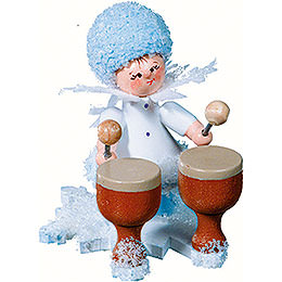 Snowflake with kettledrum  -  5cm / 2inch
