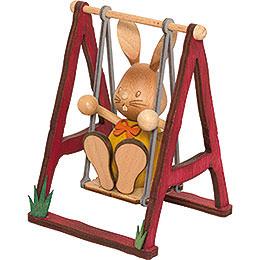 Snubby Bunny on swing  -  12cm / 4.7inch