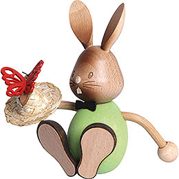 Snubby Bunny with butterflies  -  12cm / 4.7inch