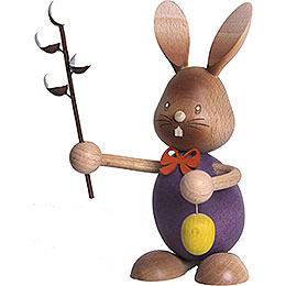 Snubby Bunny with pussy willow  -  12cm / 4.7inch