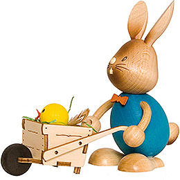 Snubby Bunny with wheelbarrow  -  12cm / 4.7inch