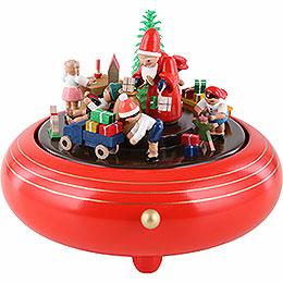 Spieldose Weihnachtsbescherung  -  14cm