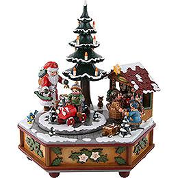 Spieldose Weihnachtszeit  -  22cm