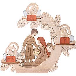 Teelichtkranz Christi Geburt  -  15cm