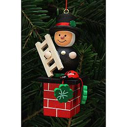 Tree Ornament  -  Chimney Sweep on Chimney  -  3,0x7,8cm / 1x3 inch