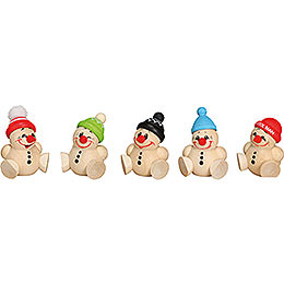 Tree Ornament  -  Cool Man Junior  -  5 pcs.  -  4cm / 2 inch