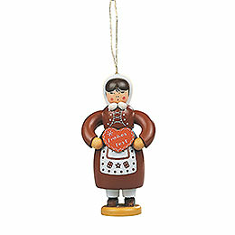 Tree Ornament  -  Gingerbread Woman Colored  -  8cm / 3.1 inch