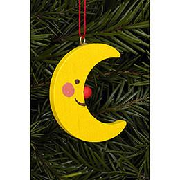 Tree Ornament  -  Moon   -  3,6 / 4,7cm  -  2x2 inch
