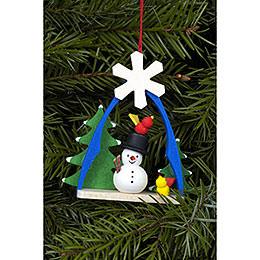 Tree Ornament  -  Snowman  -  7,4x6,3cm / 3x2 inch