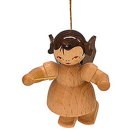 Tree ornament Angel conductor  -  natural colors  -  floating  -  5,5cm / 2,1 inch