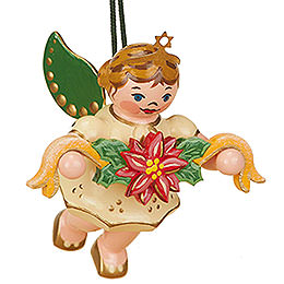 Tree ornament Angel with Garland 6cm / 2,5inch