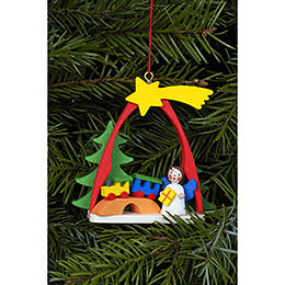 Tree ornament Angel with train  -  7,4 x 6,3cm / 3 x 2 inch