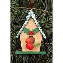 Tree ornament Birdhouse  -  5,5 x 8,0cm / 2.2 x 3.1inch