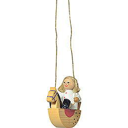 "Tree ornament ""Doll on rocking horse""  -  5cm / 2inch"